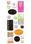 Stemma Resin Stickers - Heart Stripes