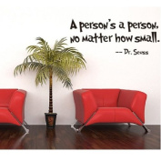 MZY LLC (TM) Dr Seuss A person's a person no matter how small Stickers Quotes and Sayings Home Art Decor Wall Sticker Decals Love Kids Bedroom