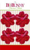 Bo Bunny Precious Petals Fabric Flowers-Wild Berry Blossom