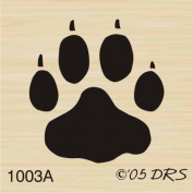 Small Dog Print Rubber Stamp By DRS Designs
