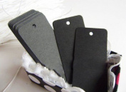 Pack of 20 Black Kraft Paper Luggage Tags Price Label