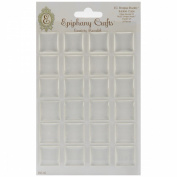 Ephiphany Crafts Clear Bubble Caps-Square 25, 24/Pkg