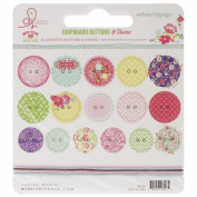 New Year, New You Self-Adhesive Chipboard Buttons 16/Pkg-With 6 Feet Of Twine
