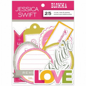 Blomma Die-Cuts 25/Pkg-Titles, Tags & Quotes