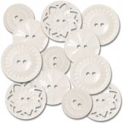 Vintage Style Sew-On Buttons 12/Pkg-White