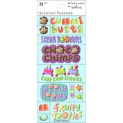 Candy Theme Scented Stickers - Fun Scrapbook Stickers - 28 Pieces