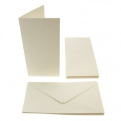 Papermania tall textured card blanks 300gsm 10pk - cream