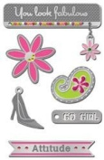 Go Girl Silver Lil' Charms for Scrapbooking