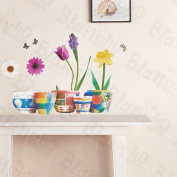 [Grow Flowers] Decorative Wall Stickers Appliques Decals Wall Decor Home Decor
