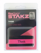 """Stakz Pre-INked Rubber Stamp - Love Single """"Think"""""""