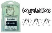 Just Rite Stampers 2 X Stampers - Congratulations & Champagne Glasses