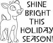 Shine Bright Wood Stamp