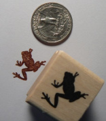 Miniature tree frog rubber stamp