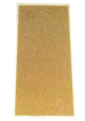 Metallic Gold - Press-On Crystal Shimmer Sheet - 15cm x 7cm - 1 Piece
