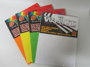 BRIGHT 5 colour, EXTRA THICK CARD STOCK, 22cm X 28cm PAPER