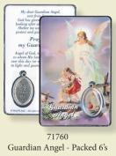 Rosarybeads4u Guardian Angel Coloured Medal Pendant Verse Prayer Card