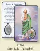 Rosarybeads4u St Saint Jude Coloured Medal Pendant Verse Prayer Card