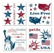 Liberty Patriotic Rub-ons for Scrapbooking