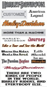 Harley-Davidson Motorcycle Phrases #1 Stickers