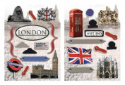 Paper House Productions - London Collection - Die Cut Chipboard Pieces - London