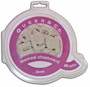 Themed Chipboard -Love