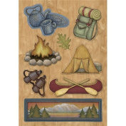 Great Outdoors Dimensional Scrapbook Stickers