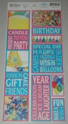 Birthday Photo Banner Cardstock Scrapbook Stickers