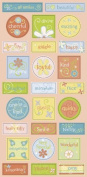 Sunrise Smoothie ABC Chipboard Accent Scrapbook Stickers