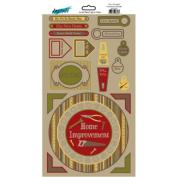 Do It Yourself Home Improvement Cardstock Scrapbook Sticker