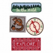 Woodland Fabric Details Scrapbook Stickers