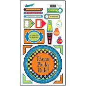 Theme Park Cardstock Scrapbook Stickers