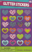 HEART GLITTER STICKERS