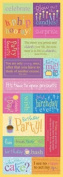 Birthday Embossed Messages Scrapbook Stickers