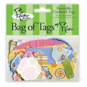 Paradise Reversible Cardstock Tags for Scrapbooking