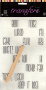 Blur Words Rub-ons for Scrapbooking