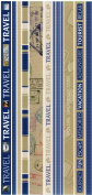 Travel Photo Banner Ribbon Border Cardstock Scrapbook Stickers