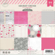 Pink Paislee Secret Crush 6x6 Paper Pack