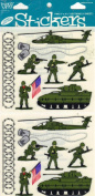 Military Soldiers Tank Helicopter Scrapbook Stickers