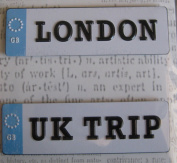 London/UK Trip Plates // Creative Imaginations