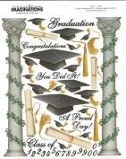 Graduation Congratulations Scrapbook Stickers