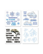 Extreme Weather Rub-ons for Scrapbooking