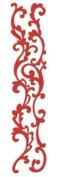 Scrollwork Border Velvet Fuschia Class A'Peels Scrapbook Stickers