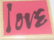 Vap! Scrap - Love Stamp with Wood Base