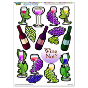 Wine and Grapes - Glass Vine Olives SLAP-STICKZ(TM) Party Scrapbook Craft Car Window Locker Stickers
