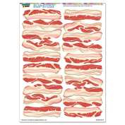 Bacon Strips of Awesomeness - Food SLAP-STICKZ(TM) Party Scrapbook Craft Car Window Locker Stickers