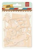 BasicGrey Carte Postale Collection Wood Veneer Die Cuts