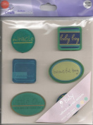 Baby Boy Acrylic Accent Scrapbook Stickers