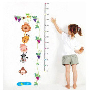 Tree height measure Removable Wall Sticker Decals Wallpaper For Children kids LW6903