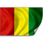 Sticker (Decal) with Flag of Guinea