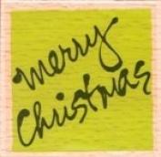 Vap! Scrap - Merry Christmas - Wood Mounted Rubber Stamp